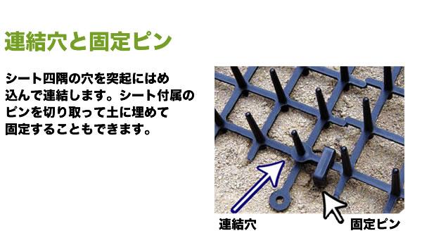 連結穴と固定ピン